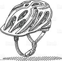 Fahrradhelm Zeichnung Stock Vektor Art und mehr Bilder von ...