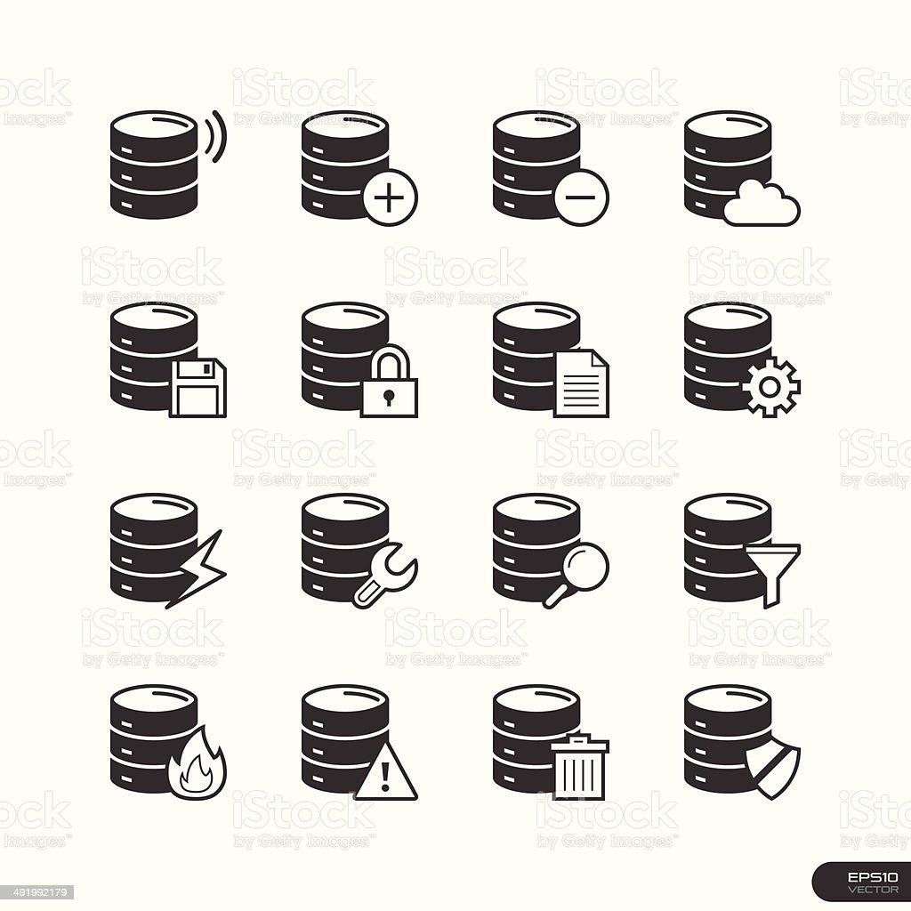 Database Icons Set Illustration Stock Vector Art & More