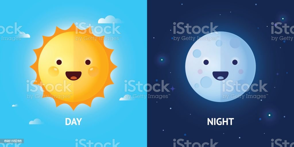 best day night illustrations