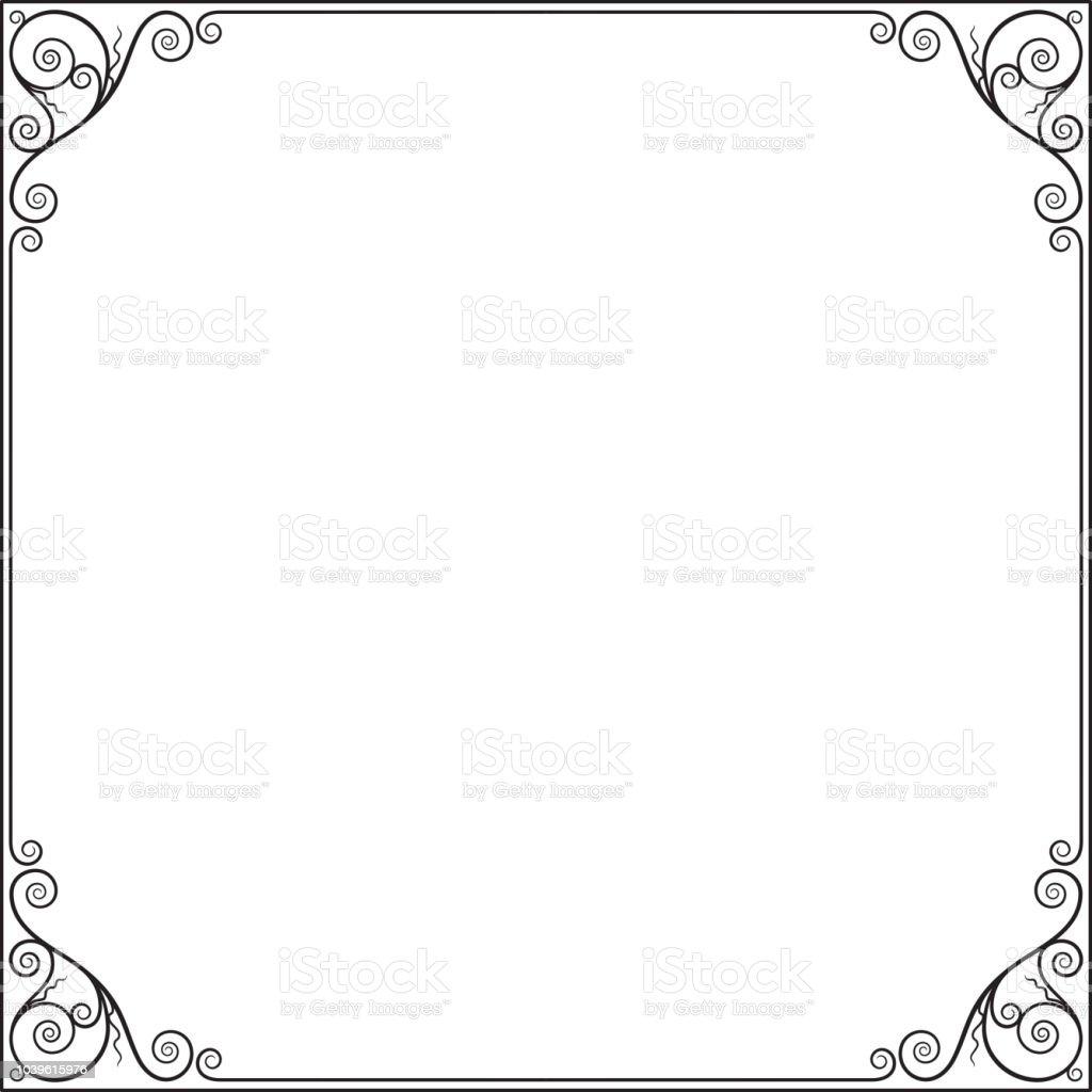 Decorative Black Square Frame For Label Certificate Card