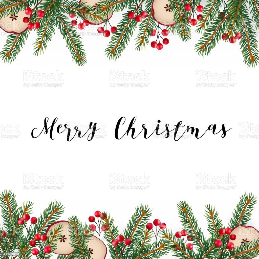 decorative merry christmas frame