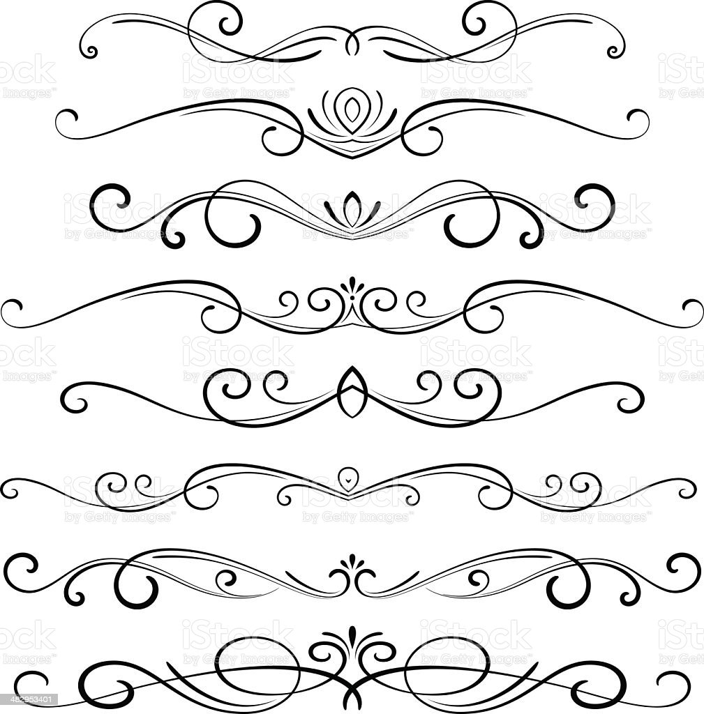 Decorative Ornaments Stock Vector Art & More Images of