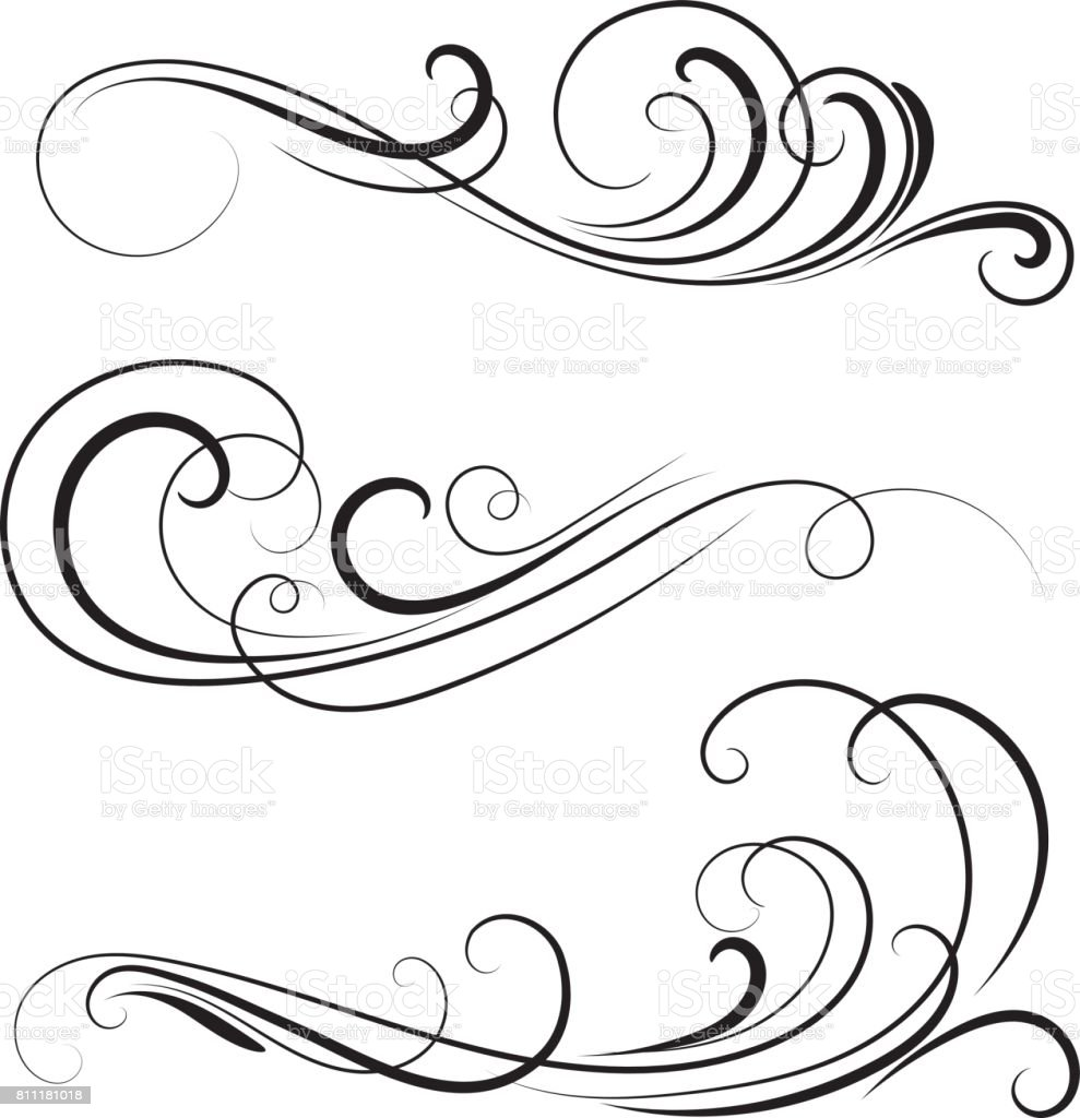 Decorative Swirls Stock Vector Art & More Images of