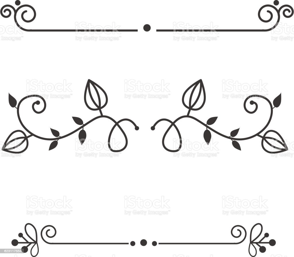 Decorative Vintage Elements Vector Illustration Set