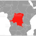 Democratic Republic Of The Congo Map On Gray Base Stock Illustration Download Image Now Istock