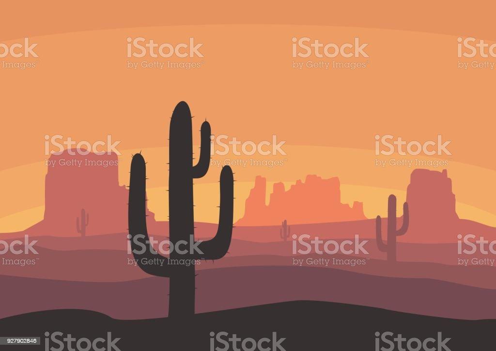 best desert landscape illustrations