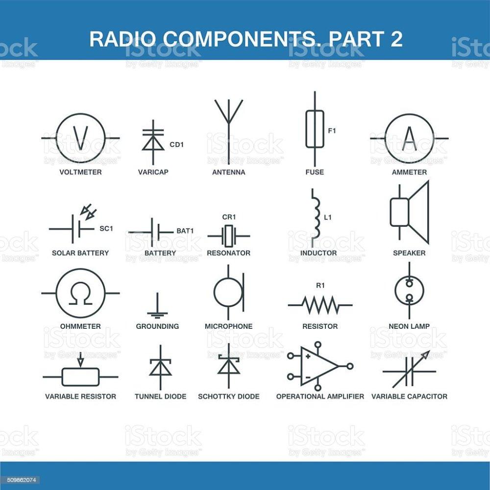 medium resolution of designation of components in the wiring diagram royalty free designation of components in the wiring