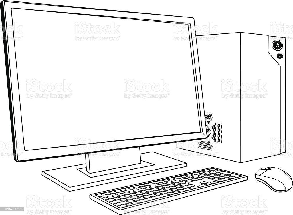 Desktop Pc Computer Workstation Stock Vector Art & More