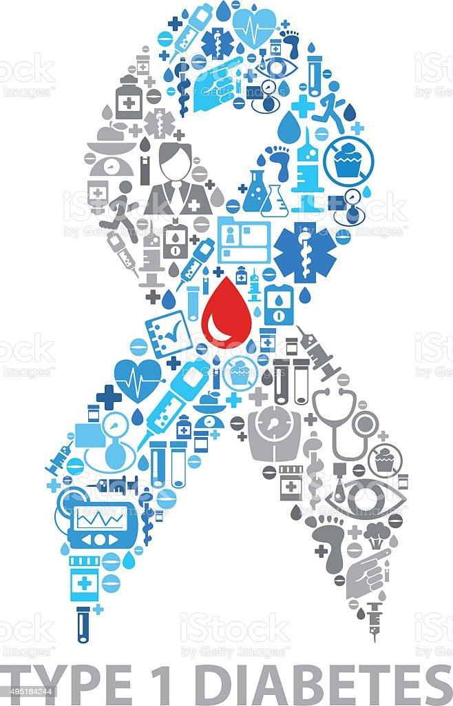 Diabetes ribbon svg | Etsy
