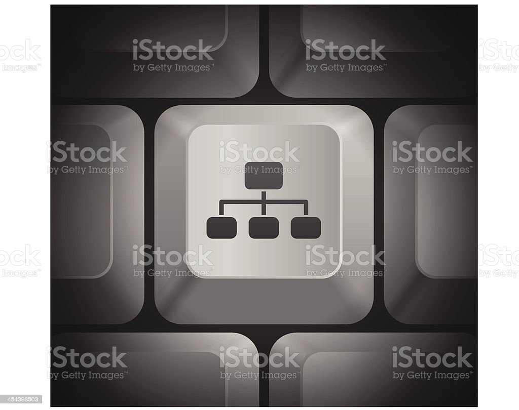 hight resolution of diagram icon on computer keyboard illustration