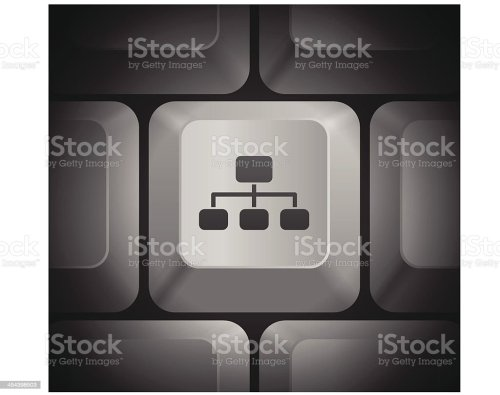 small resolution of diagram icon on computer keyboard illustration