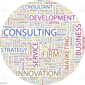 A Diagram Of Words Relating To Consulting Stock Vector Art