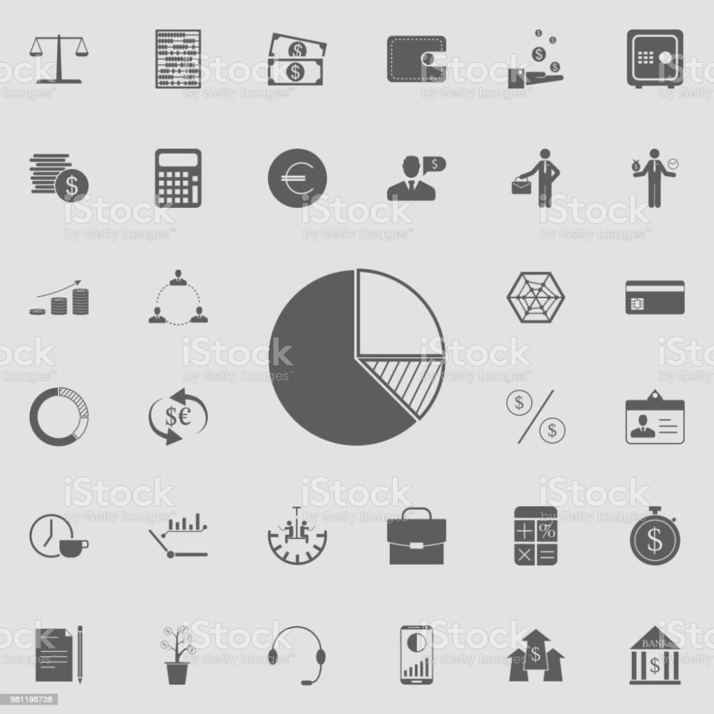 medium resolution of diagram pie icon detailed set of finance icons premium quality graphic design sign
