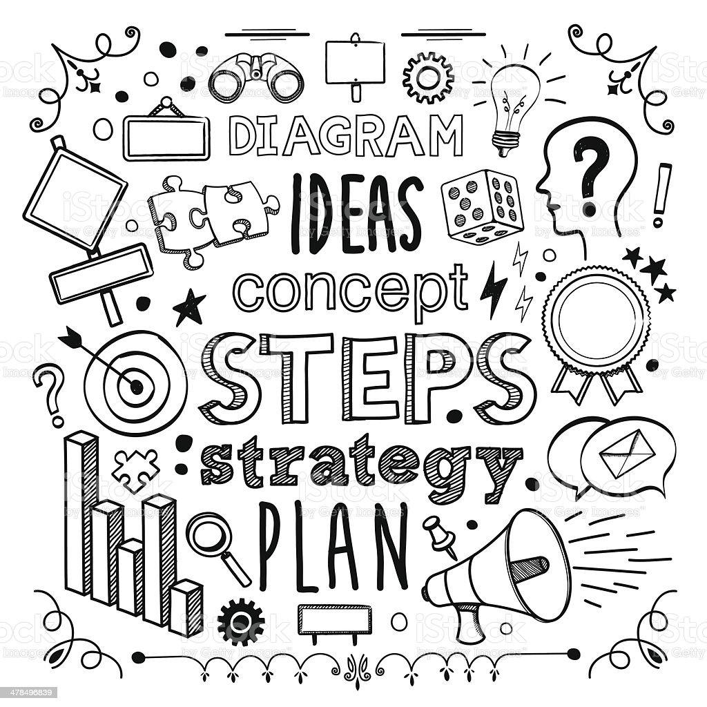 Diagram Plan Stock Vector Art & More Images of Arrow
