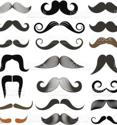 different retro style moustache clip art vector set isolated on white royalty free [ 1024 x 981 Pixel ]