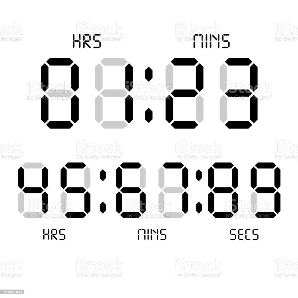Digital Clock Calculator Digital Numbers Alarm Clock