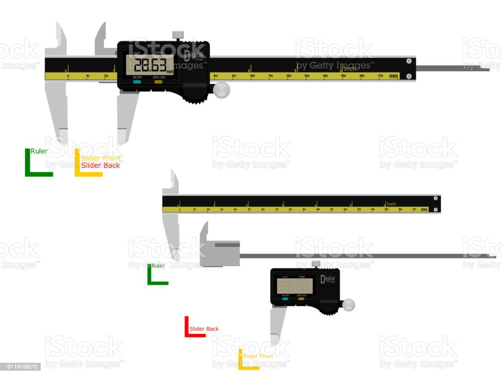 hight resolution of digital vernier caliper royalty free digital vernier caliper stock illustration download image now