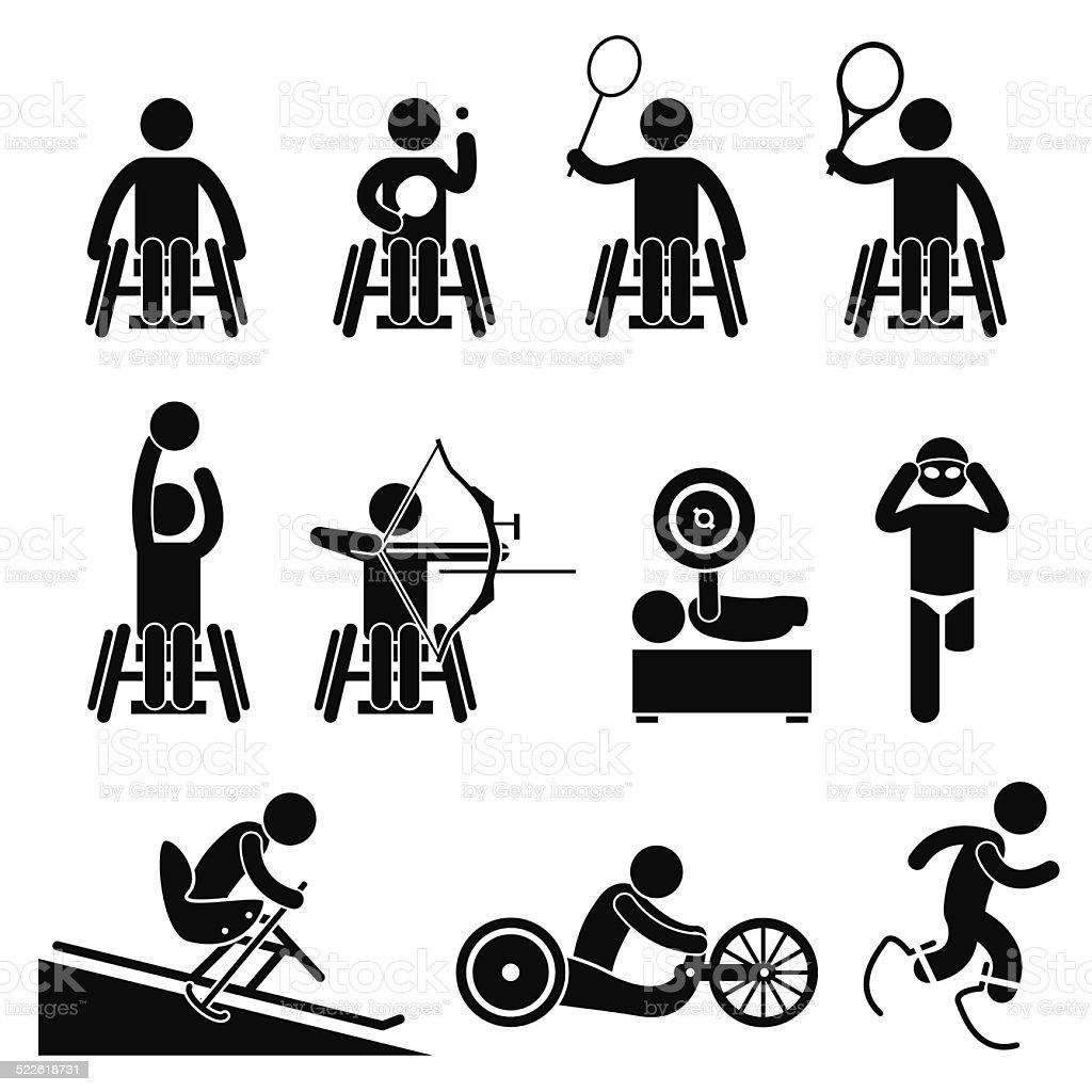 Disable Handicap Sport Paralympic Games Stock Vector Art