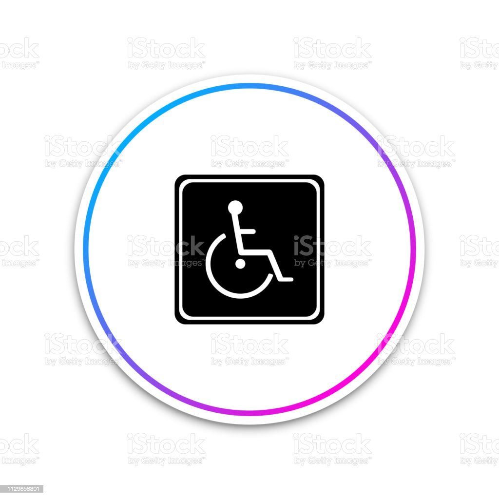 disabled handicap icon isolated