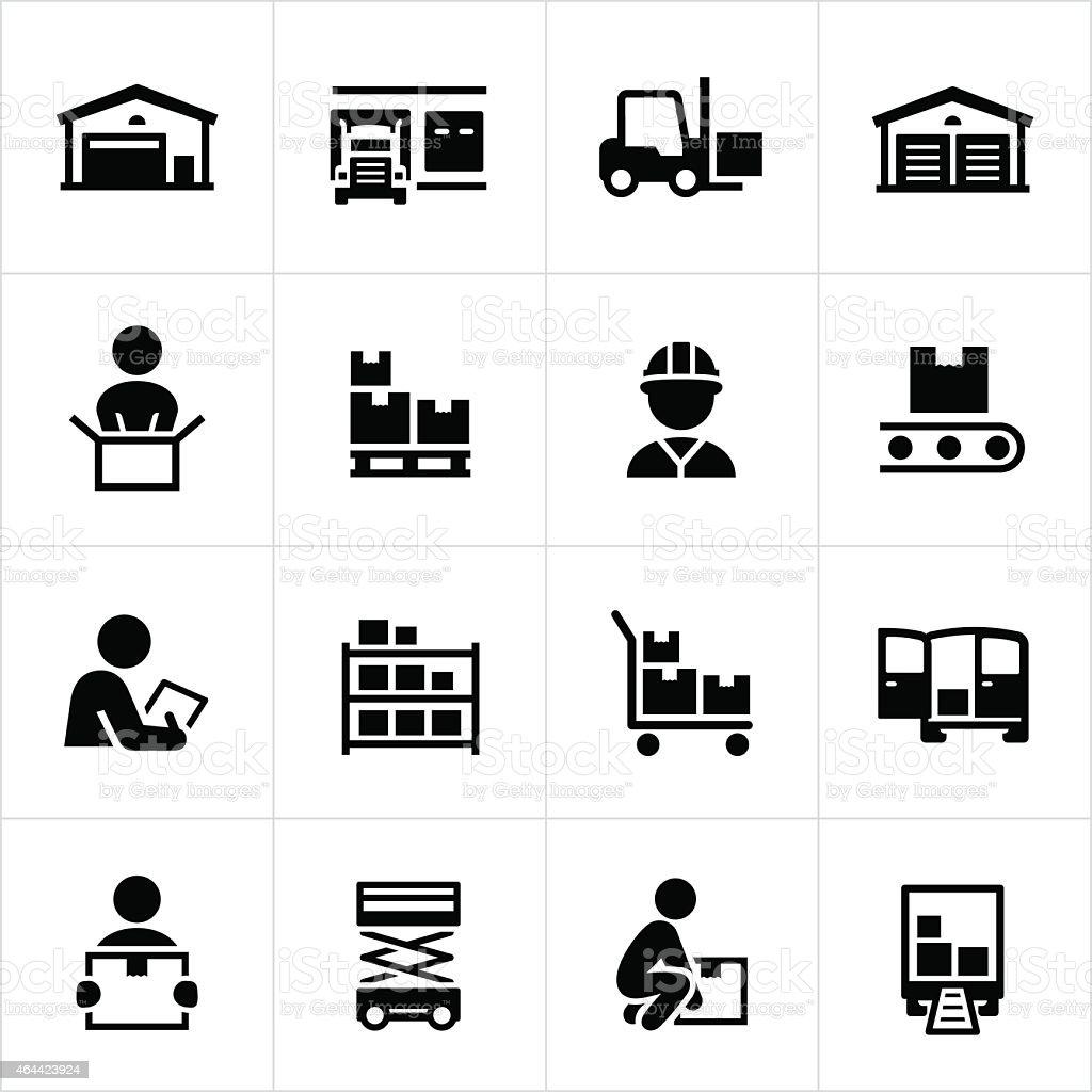 Armazém De Distribuição De ícones Download Vetor e