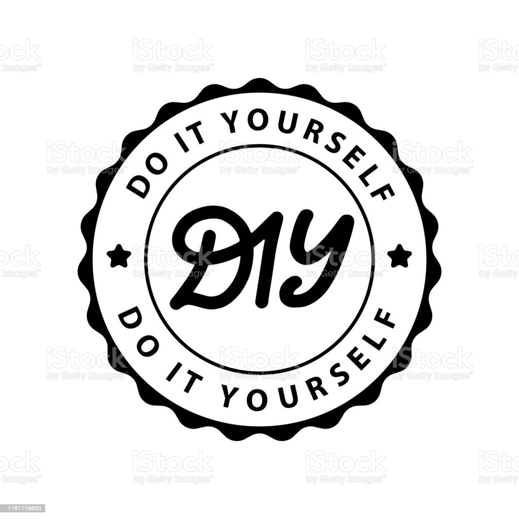 Diy Do It Yourself Lettering Abbreviation Logo Circle