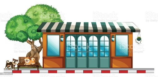Dogs Outside The Restaurant Stock Illustration Download Image Now iStock