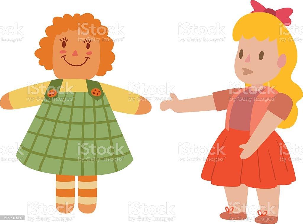 royalty free doll clip art vector