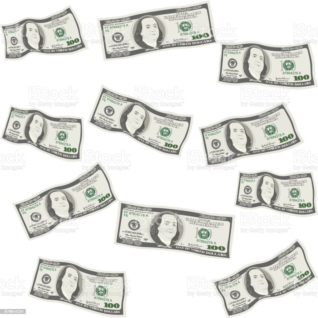 100 Dollar Banknotes Seamless Money Pattern Of One Hundred