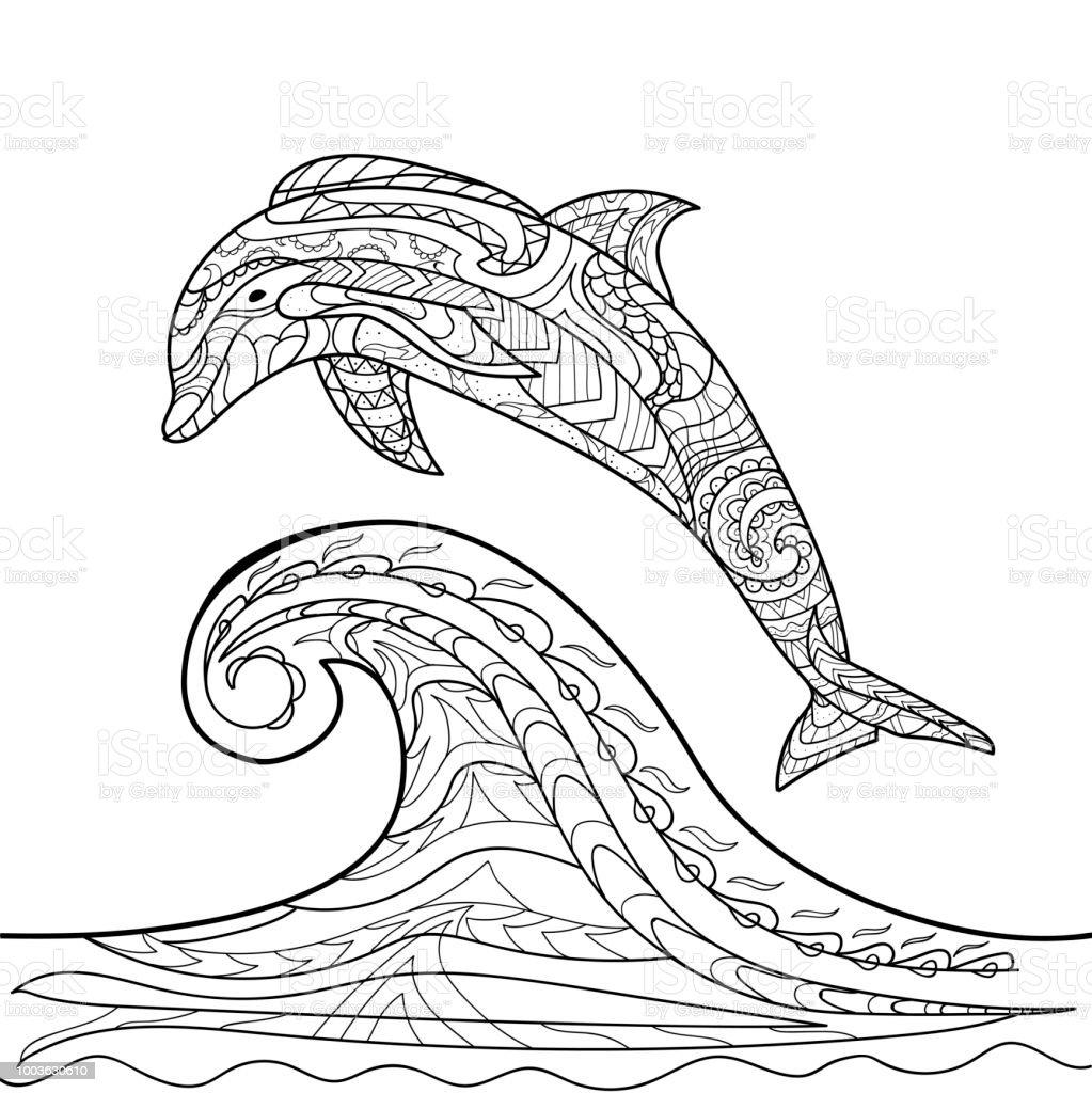 Delphin Bild Zum Ausmalen