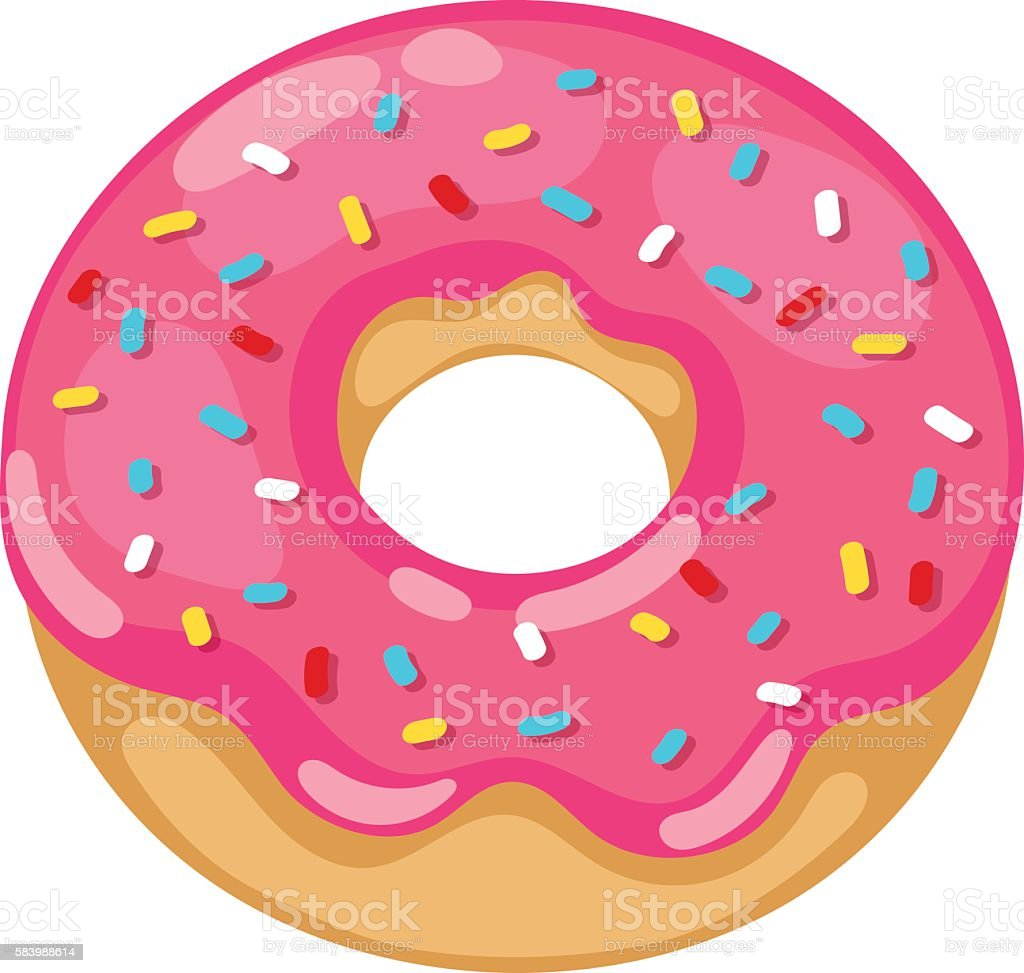 royalty free pink donut clip art