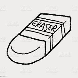 Printable Eraser Clipart Black And White
