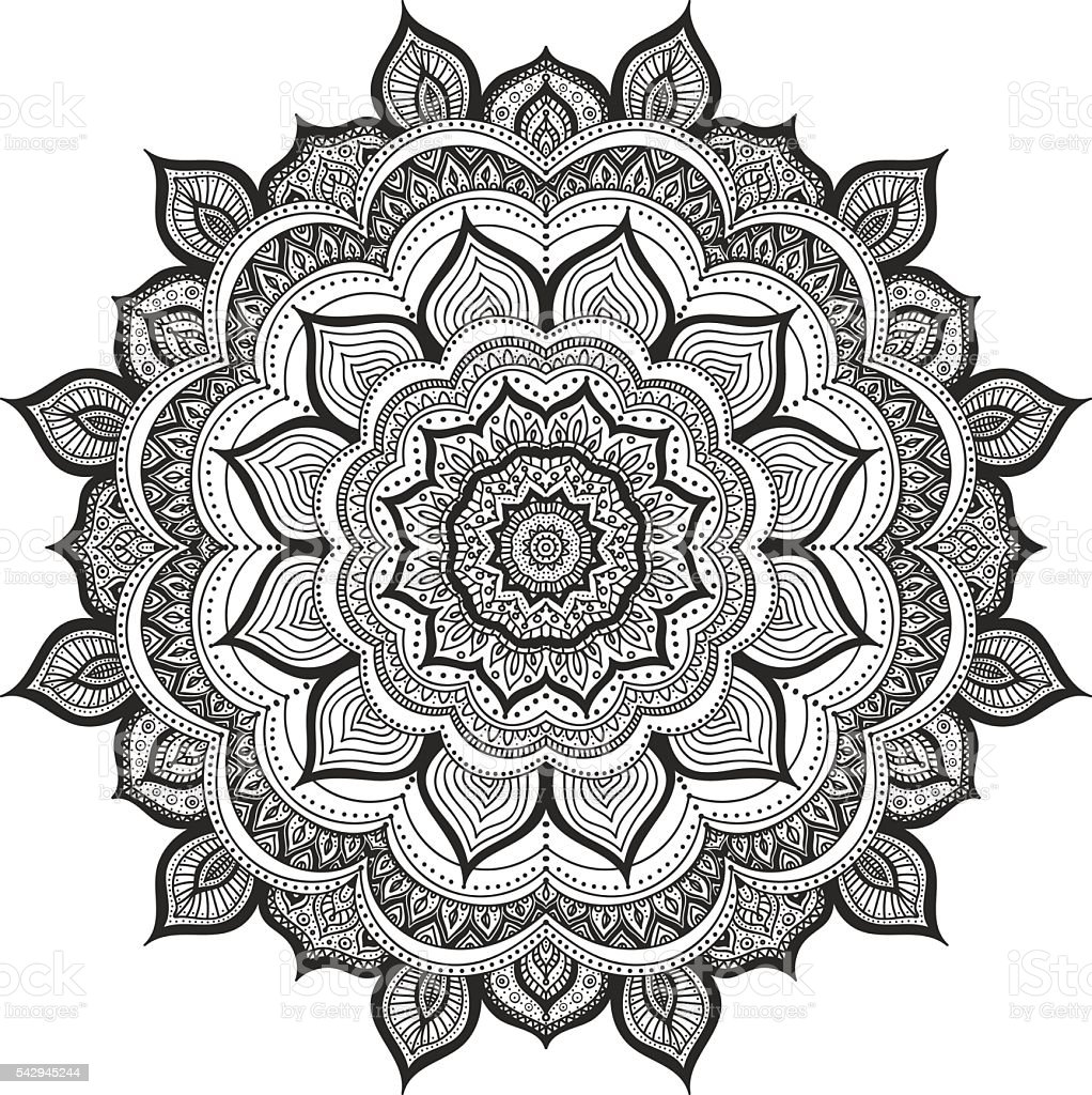 Doodle Mandala Stock Vector Art Amp More Images Of Abstract