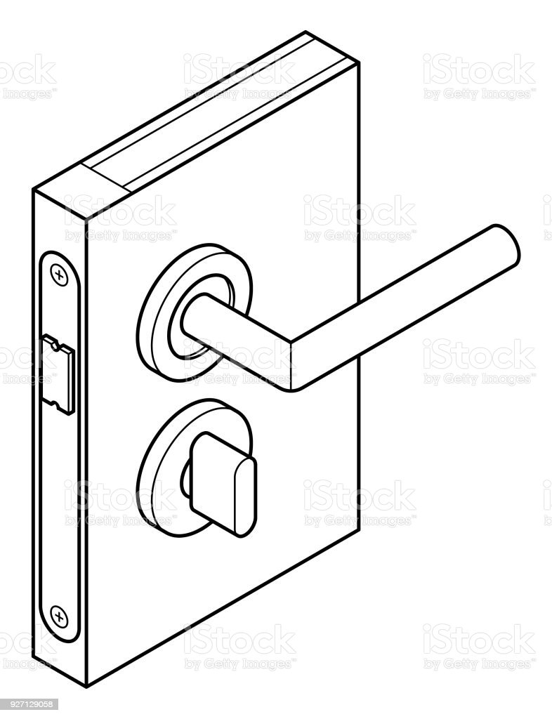 medium resolution of door lock diagram royalty free door lock diagram stock vector art amp more images