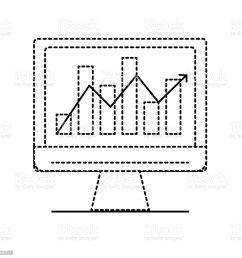 inform tica de forma punteada con diagrama de barras estad sticas ilustraci n de inform tica de forma punteada con [ 1024 x 1024 Pixel ]