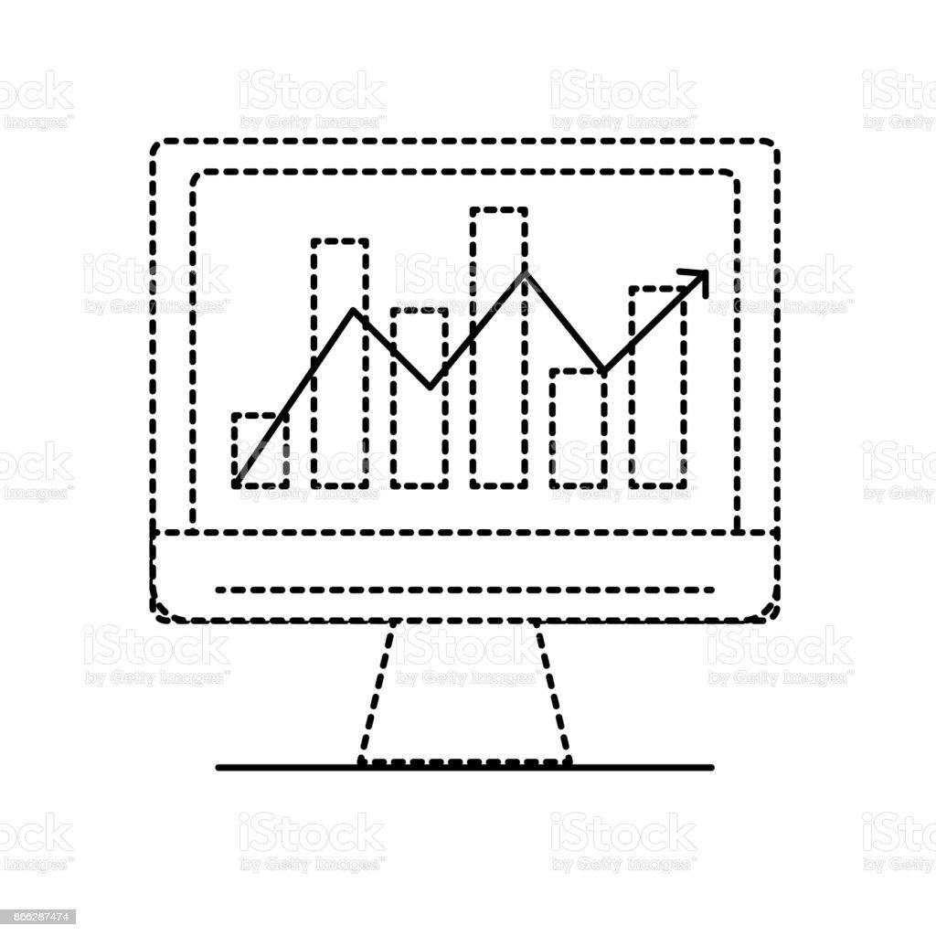 hight resolution of inform tica de forma punteada con diagrama de barras estad sticas ilustraci n de inform tica de forma punteada con