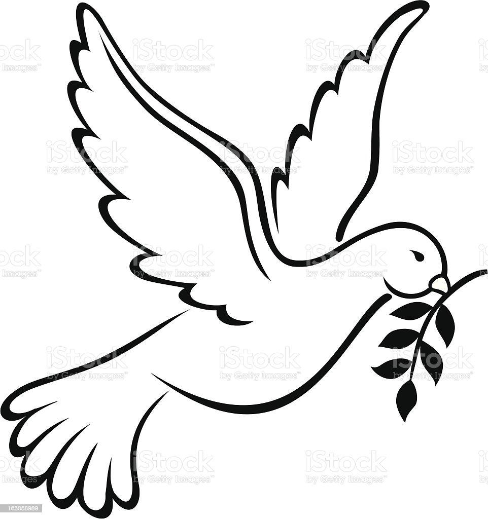 Dove Symbol Of Peace On Earth Stock Illustration