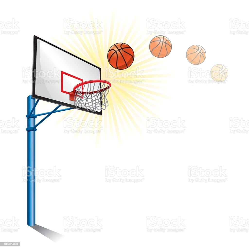 Cartoon Basketball Goal