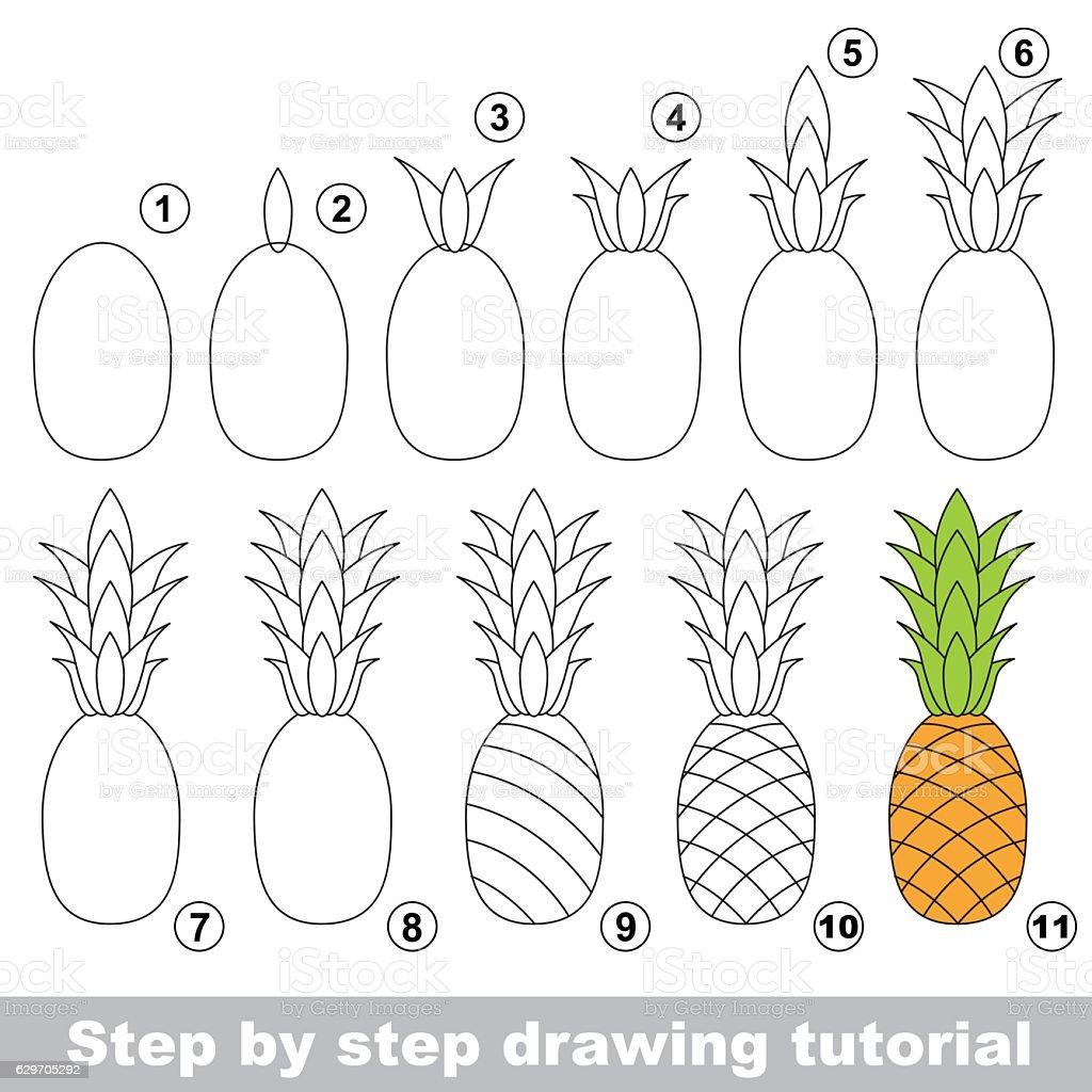 Drawing Tutorial Ripe Pineapple Stock Vector Art & More