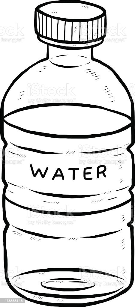 Drink Water Bottle Stock Vector Art & More Images of 2015