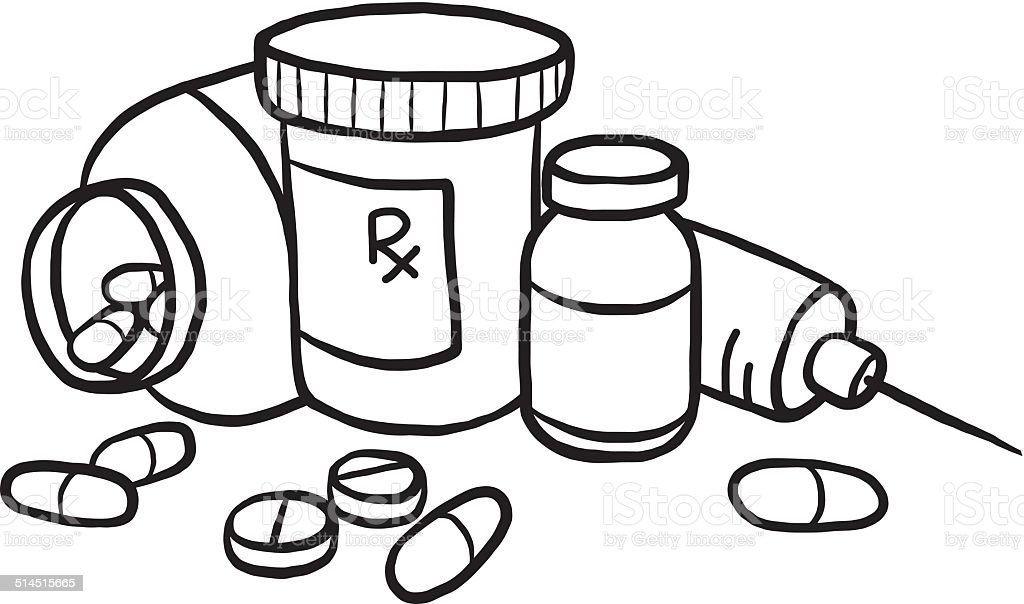 Ilustração de Medicamentos e mais banco de imagens de
