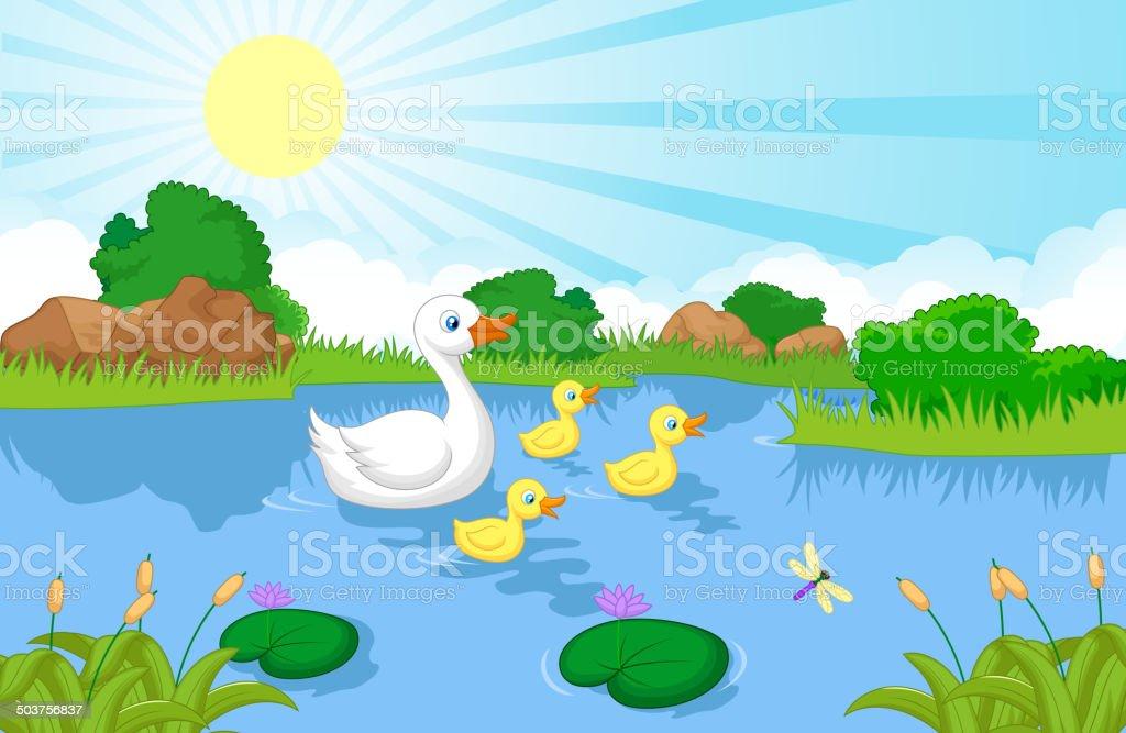 royalty free duck family clip art