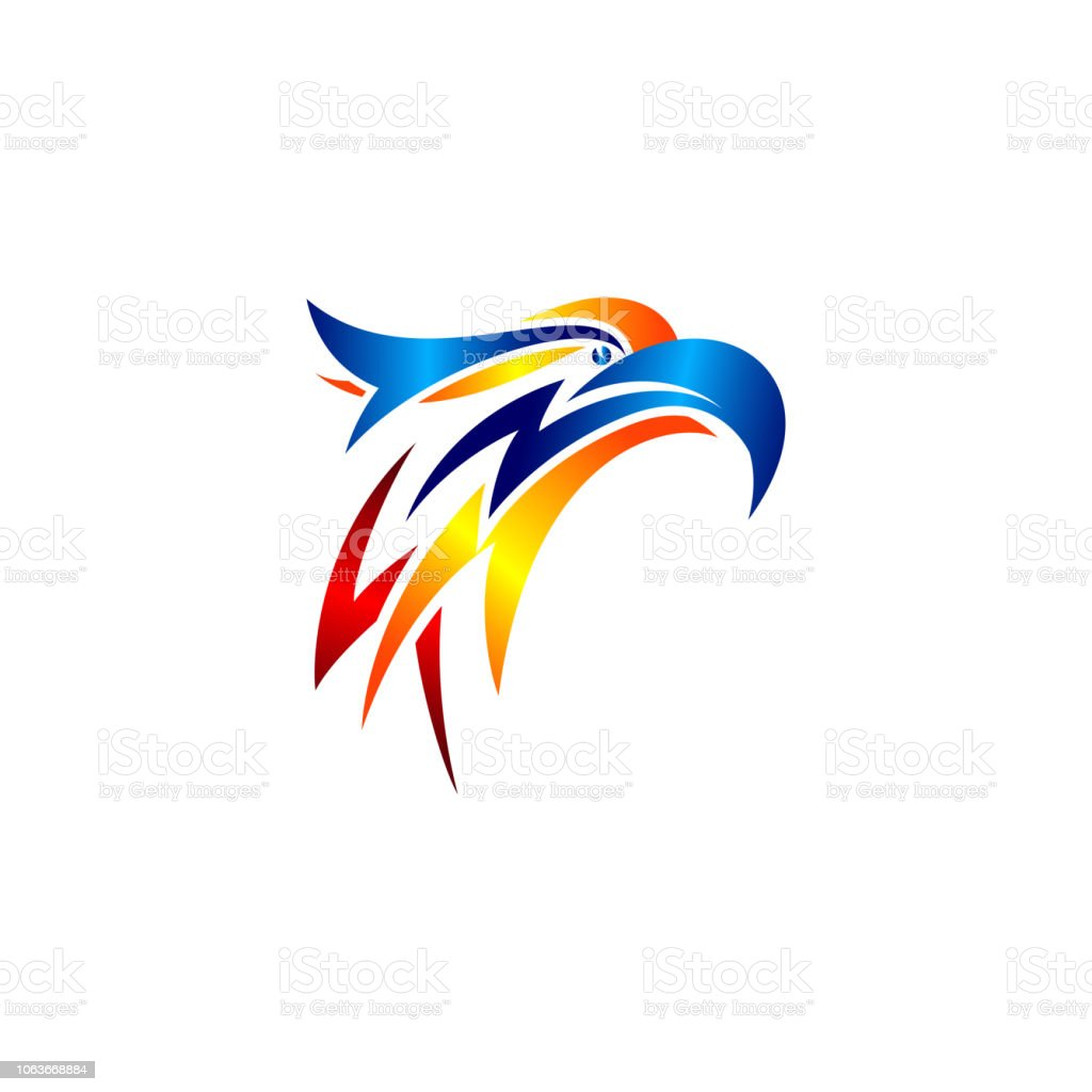 eagle head logo template