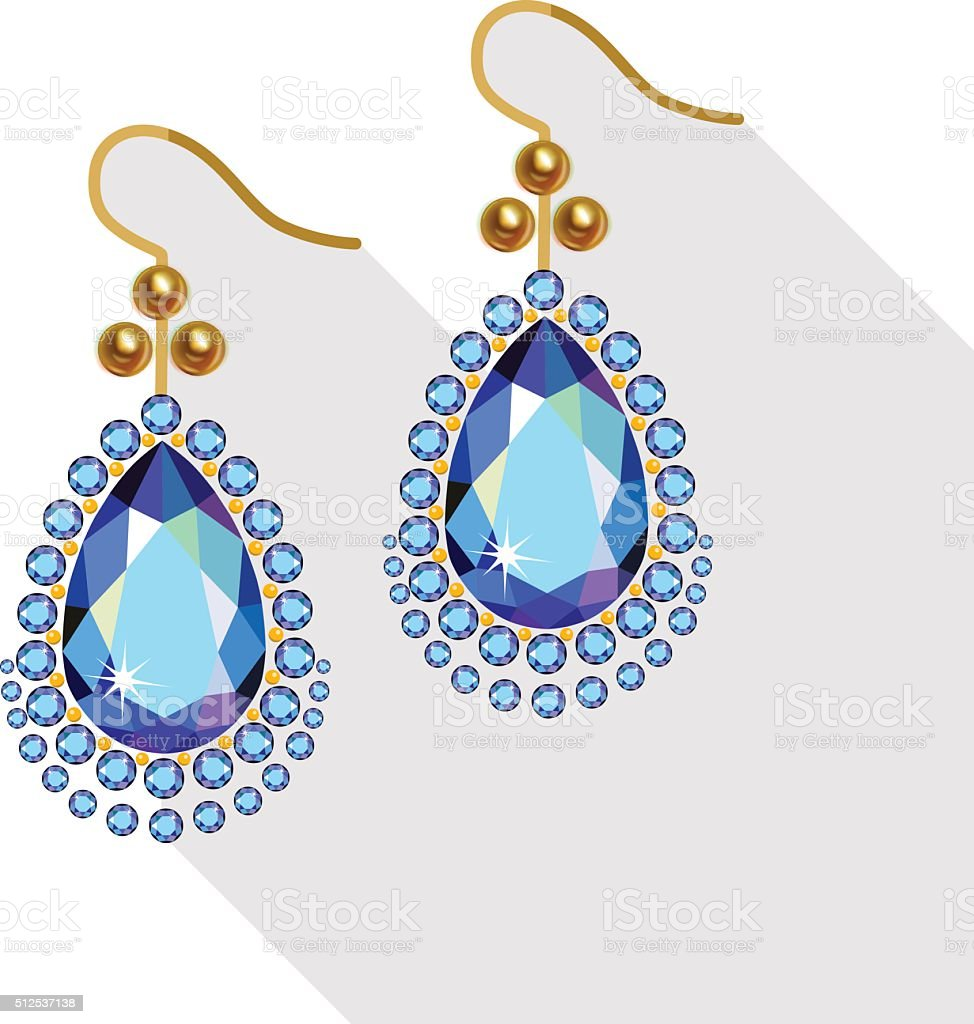 Royalty Free Earrings Clip Art, Vector Images