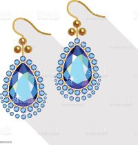 Royalty Free Earrings Clip Art, Vector Images ...