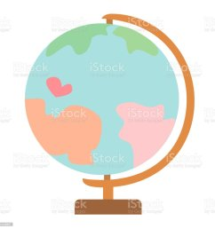 earth globe model flat simple illustration illustration  [ 1024 x 1024 Pixel ]