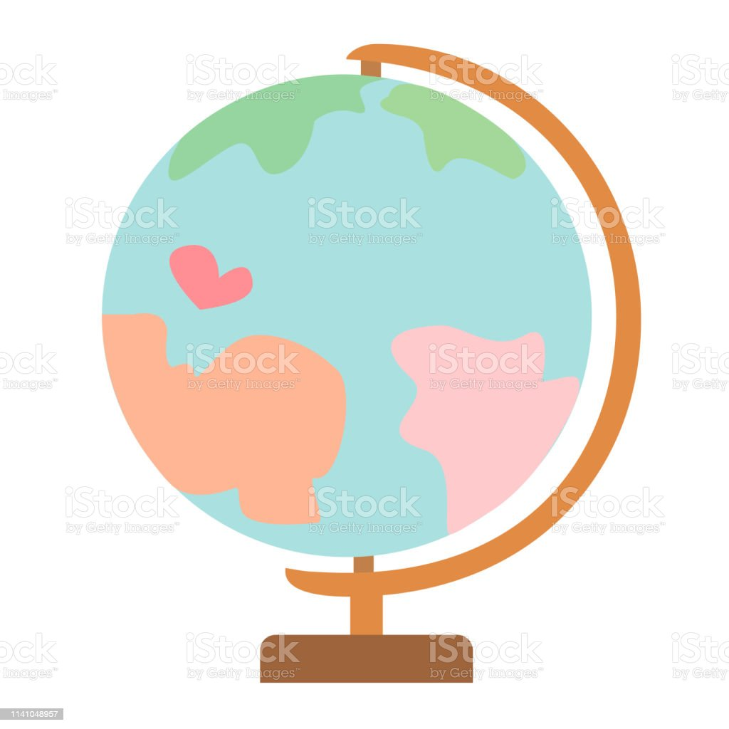 hight resolution of earth globe model flat simple illustration illustration