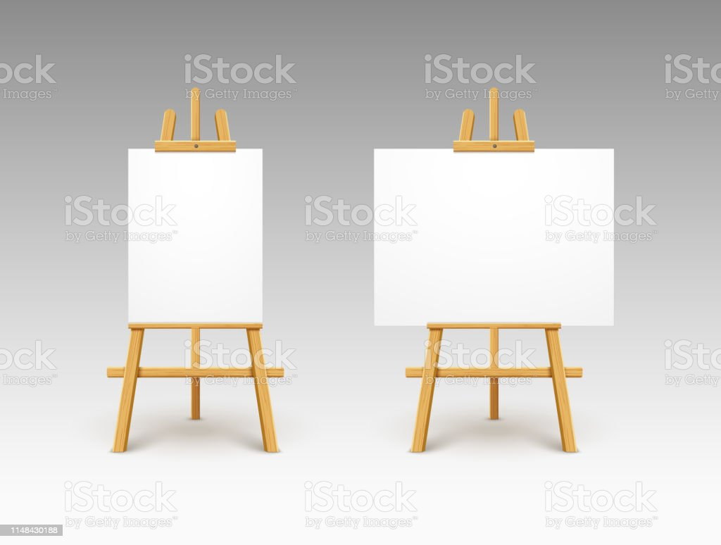 easel canvas stand vector board isolated wooden easel art painting paper frame stand or poster stock illustration download image now istock