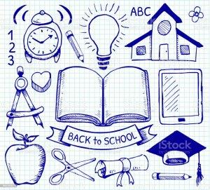 education drawings paper graph escuela dibujos open desenhos istock mano