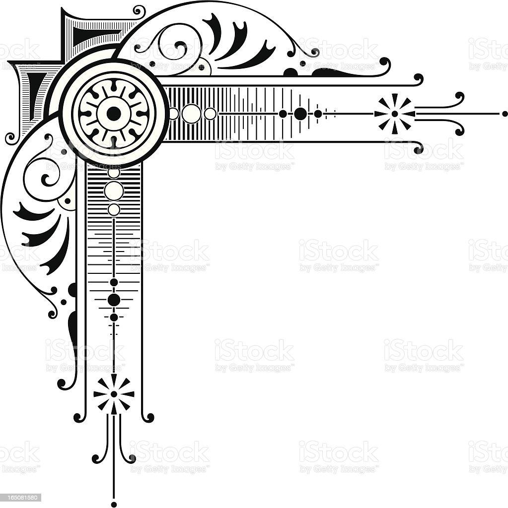 Elaborate Corner Art Stock Vector Art & More Images of