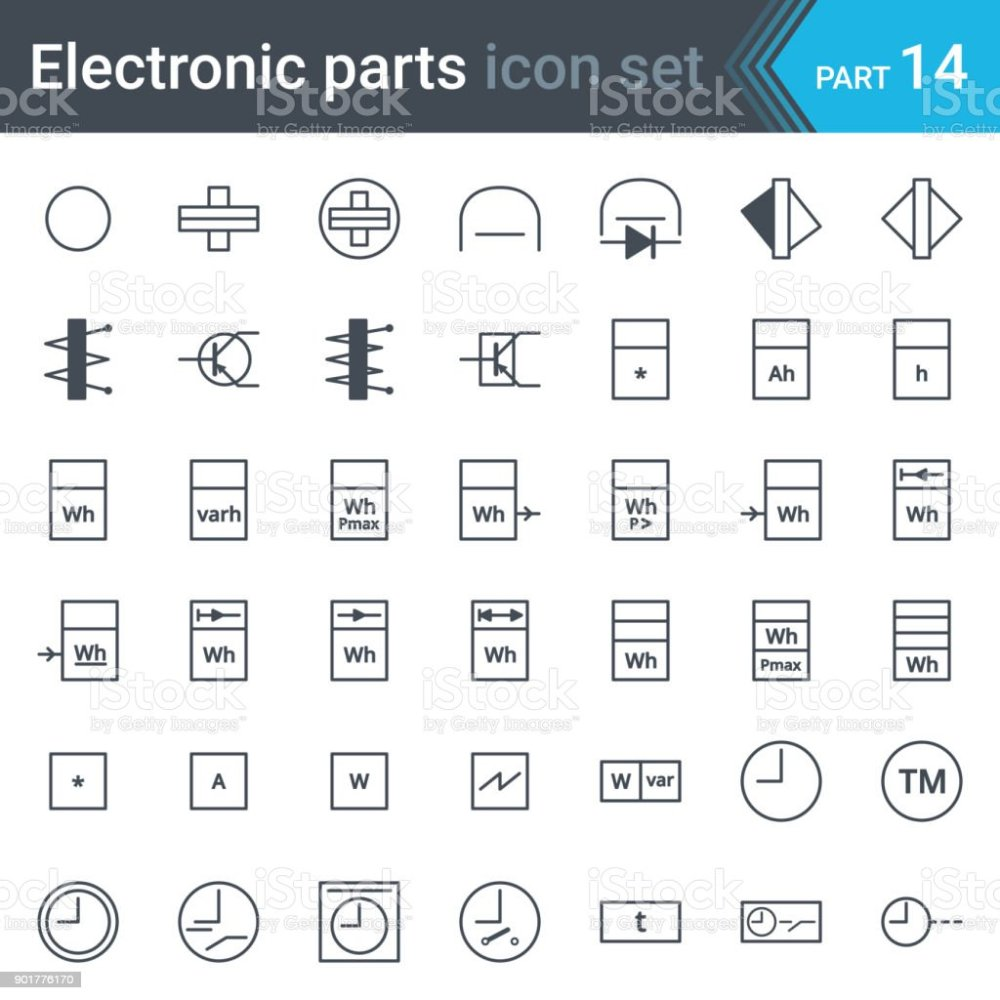 medium resolution of electric and electronic circuit diagram symbols set of electrical instrumentation meters recorders counters